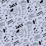 Jazz music pattern and texture Royalty Free Stock Image