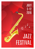 Jazz Music Poster Image stock