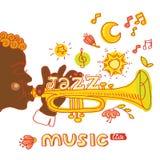 Jazz Music Uppsättning av musikinstrumenttangentbordet Royaltyfri Foto