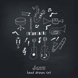 Jazz musical instruments vector set Stock Photo