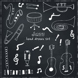 Jazz musical instruments vector set Stock Photography