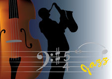Jazz musician. This image is a  illustration and can be scaled to any size without loss of resolution. This image will download as an EPS file. You will need a Royalty Free Stock Images