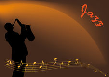 Jazz musician royalty free illustration