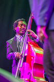 Jazz musician Aaron James at Kaunas Jazz 2015 Stock Photography