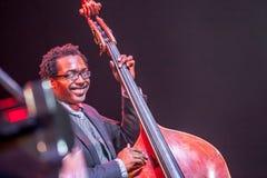 Jazz musician Aaron James at Kaunas Jazz 2015 Stock Images
