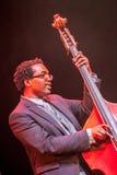 Jazz musician Aaron James at Kaunas Jazz 2015 Royalty Free Stock Photography