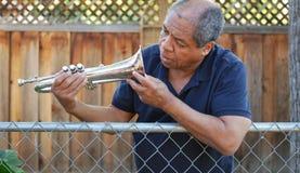 Jazz  musician. Royalty Free Stock Photos