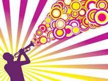 Jazz musician background Royalty Free Stock Photo