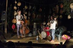 Jazz musicians in concert Stock Images