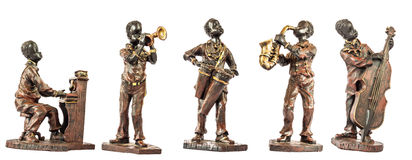 Jazz Musicians. Jazz musician figurines isolated on white Stock Images