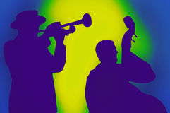 Jazz musicians Stock Images