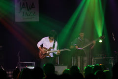 Jazz. Musicians were performed in Jakarta, Indonesia Royalty Free Stock Photography
