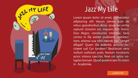 Jazz My Life Conceptual Banner Images stock