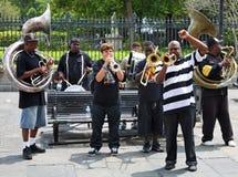 jazz New Orleans della fascia Fotografia Stock Libera da Diritti