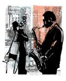 Jazz in New York royalty-vrije illustratie