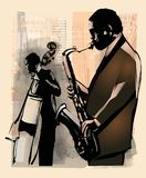Jazz in New York stock illustratie