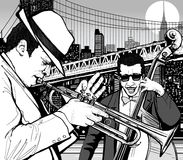 jazz New York Arkivbilder