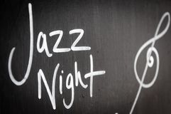 Jazz Night advertisement sign Royalty Free Stock Image