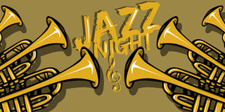 Jazz Night-banner Stock Fotografie