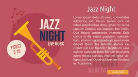 Jazz Night Conceptual Banner Photo stock