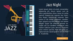 Jazz Night Conceptual Banner Photographie stock libre de droits
