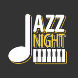 Jazz night musical poster vector template Stock Photography