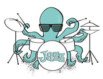 Jazz Octopus Royaltyfri Bild