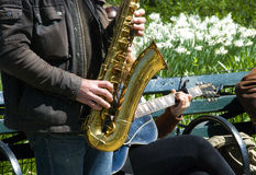 Jazz outdoors Royalty Free Stock Images
