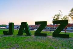 Jazz Park in Klaipeda Litauen lizenzfreie stockbilder
