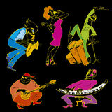 Jazz party. Vector illustration of jazz band Stock Image