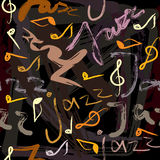Jazz pattern Royalty Free Stock Photos