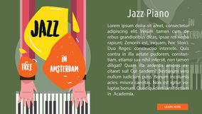 Jazz Piano Conceptual Banner Photographie stock