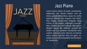 Jazz Piano Conceptual Banner illustration libre de droits