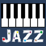 Jazz Piano Keyboard Stock Afbeelding