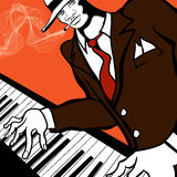 Jazz piano player Royalty Free Stock Photos