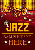 Jazz poster. Jazz party poster, the concert poster Royalty Free Stock Photography