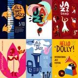 Jazz Poster Set Royalty Free Stock Photos