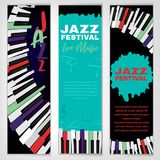 Jazz Poster Set vector illustration