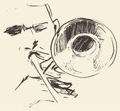 Jazz poster trombone music acoustic Royalty Free Stock Photography