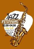 Jazz poster Stock Photography