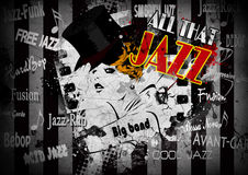 Jazz poster. With the woman in retro style Stock Photo