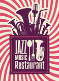 Jazz restaurant Royalty Free Stock Photos