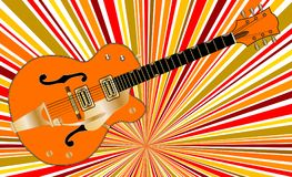 Jazz Retro Musical Guitar abstraite Photographie stock libre de droits