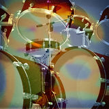 Jazz rock background. Abstract musical jazz rock background drum kit Stock Images