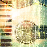 Jazz rock background. Abstract musical background acoustic guitar and piano Stock Image