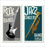 Jazz and Rock music festival, poster. Jazz or rock music festival, background Royalty Free Stock Photography