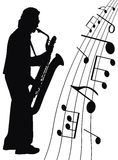 Jazz for sax Royalty Free Stock Photos