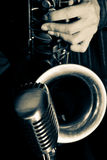 Jazz-Saxophon Stockfotos