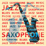 Jazz saxophone. Conceptual illustration for poster, cd cover etc royalty free illustration