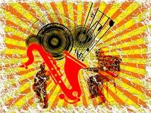 Jazz Saxophone background Royalty Free Stock Images